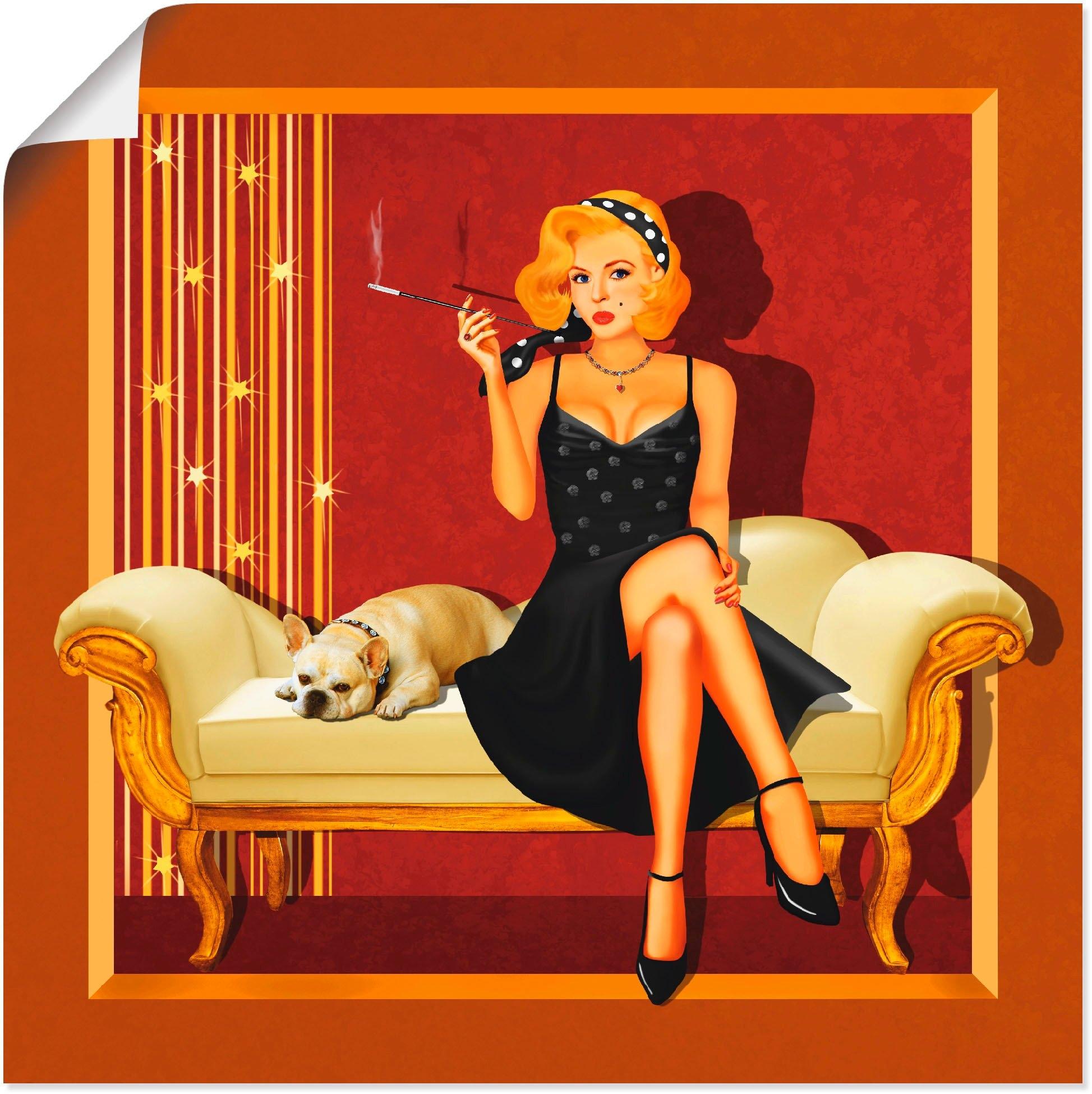 Artland artprint Pin-up glamour girl in vele afmetingen & productsoorten - artprint van aluminium / artprint voor buiten, artprint op linnen, poster, muursticker / wandfolie ook geschikt voor de badkamer (1 stuk) bij OTTO online kopen