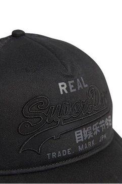 superdry trucker-cap vintage logo voor zwart