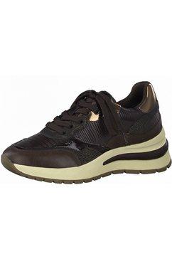 tamaris sneakers met zacht verdikte rand bruin