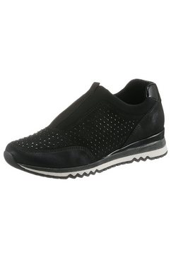 marco tozzi slip-on sneakers zwart