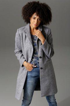 aniston casual korte jas met reverskraag grijs