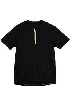 polarino fietsshirt met reflecterende details voor goede zichtbaarheid zwart