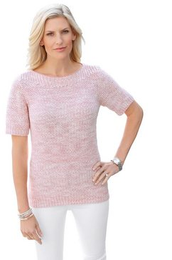 classic basics trui met korte mouwen roze