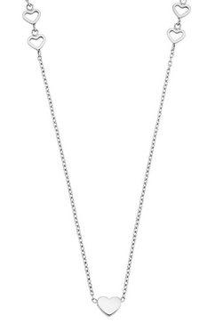 s.oliver red label junior ketting met hanger harten, 2028446 zilver