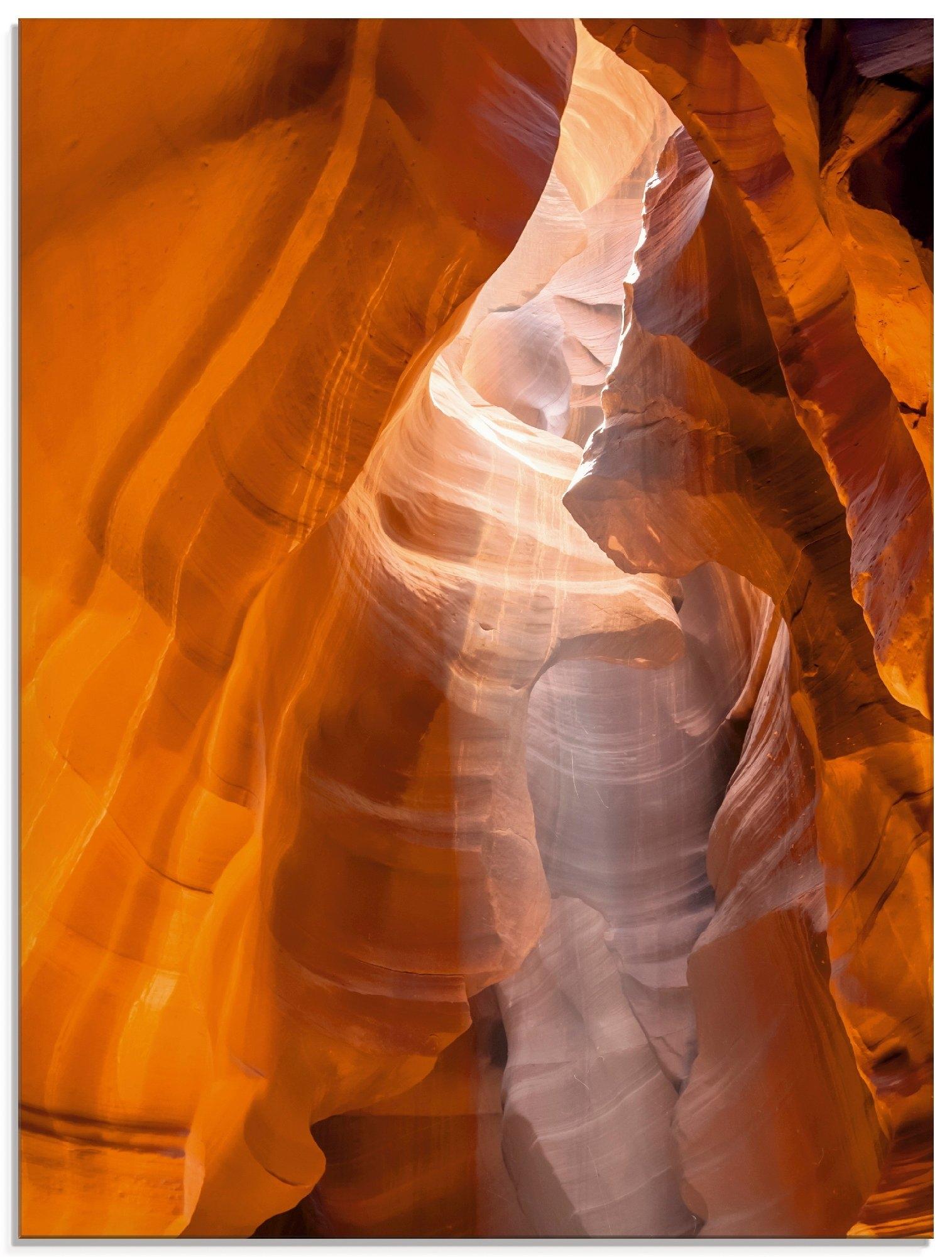 Artland print op glas »Antelope Canyon« voordelig en veilig online kopen