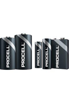 duracell batterij alkaline, mignon, aa, lr06, 1.5v, procell, box (10 stuks) (set) zwart