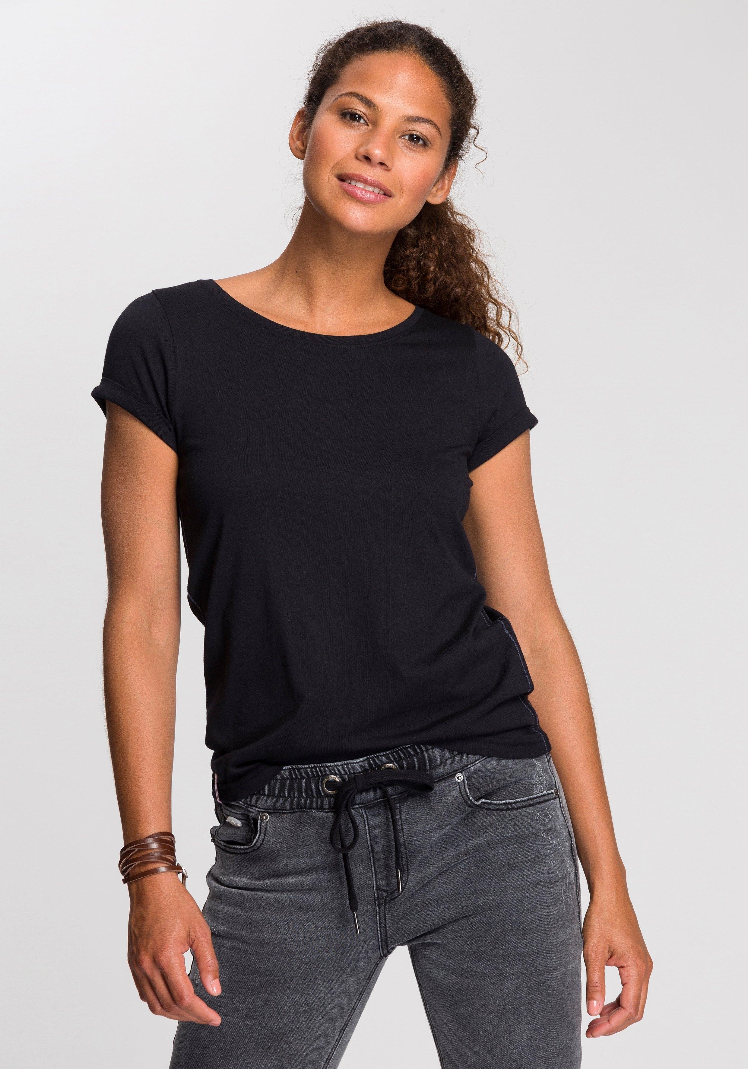 KangaROOS T-shirt met leuke opgerolde mouwen voordelig en veilig online kopen
