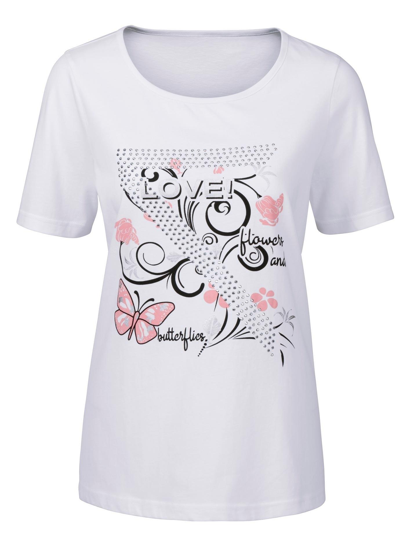 Classic Basics shirt met fladderende vlinders nu online kopen bij OTTO