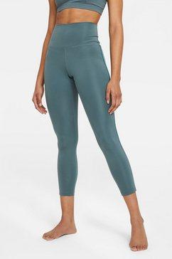 nike yogatights nike yoga novelty 7-8 women's tights grijs