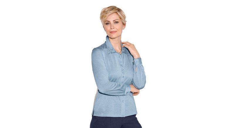 Classic blouse met lange mouwen