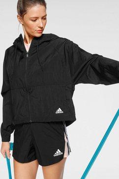 adidas performance windbreaker »batch of sports windbreaker jacket« zwart