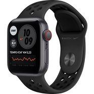apple watch nike se gps + cellular, aluminium kast met nike sportbandje 40 mm inclusief oplaadstation (magnetische oplaadkabel) grijs