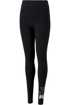 puma legging »graphic leggings g« zwart