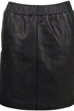 gipsy leren rok zwart