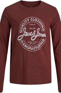 jack  jones junior shirt met lange mouwen bruin