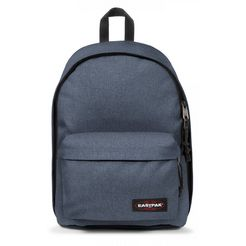 eastpak laptoprugzak out of office, crafty jeans bevat gerecycled materiaal (global recycled standard) blauw