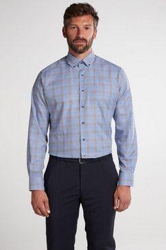eterna overhemd met lange mouwen »modern fit« grijs