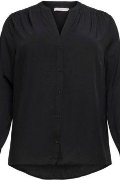 only carmakoma klassieke blouse zwart