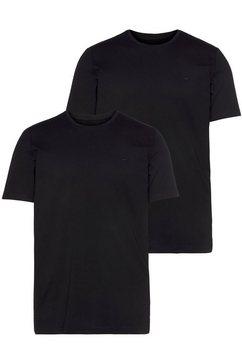mustang t-shirt met ronde hals zwart