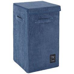 wenko »cora grau« wasmand blauw