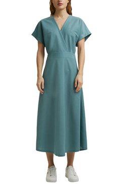 esprit collection midi-jurk in elegante wikkel-look groen