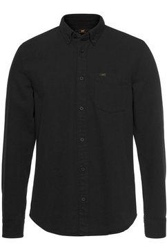 lee overhemd met lange mouwen zwart