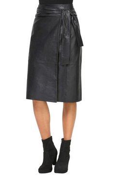 ashley brooke by heine leren rok zwart