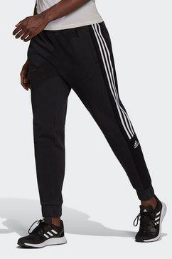 adidas performance sportbroek essentials colorblock block cut 3-stripes regular tapered pants zwart