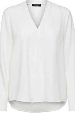 selected femme blouse zonder sluiting »slfluna« wit