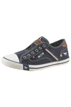 mustang shoes sneakers met elastiek zonder sluiting blauw
