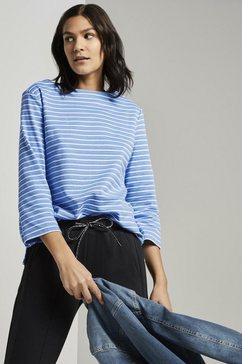 tom tailor sweater »gestreiftes ottoman sweatshirt« wit