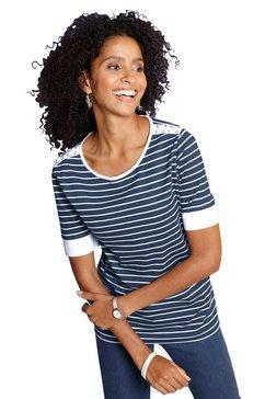 classic basics shirt met ronde hals blauw