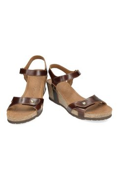 panama jack sandaaltjes met sleehak bruin
