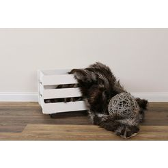 myflair moebel  accessoires opbergbox malik hout wit