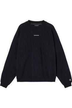 calvin klein sweatshirt unisex micro branding cn met calvin klein micro logo-opschrift zwart