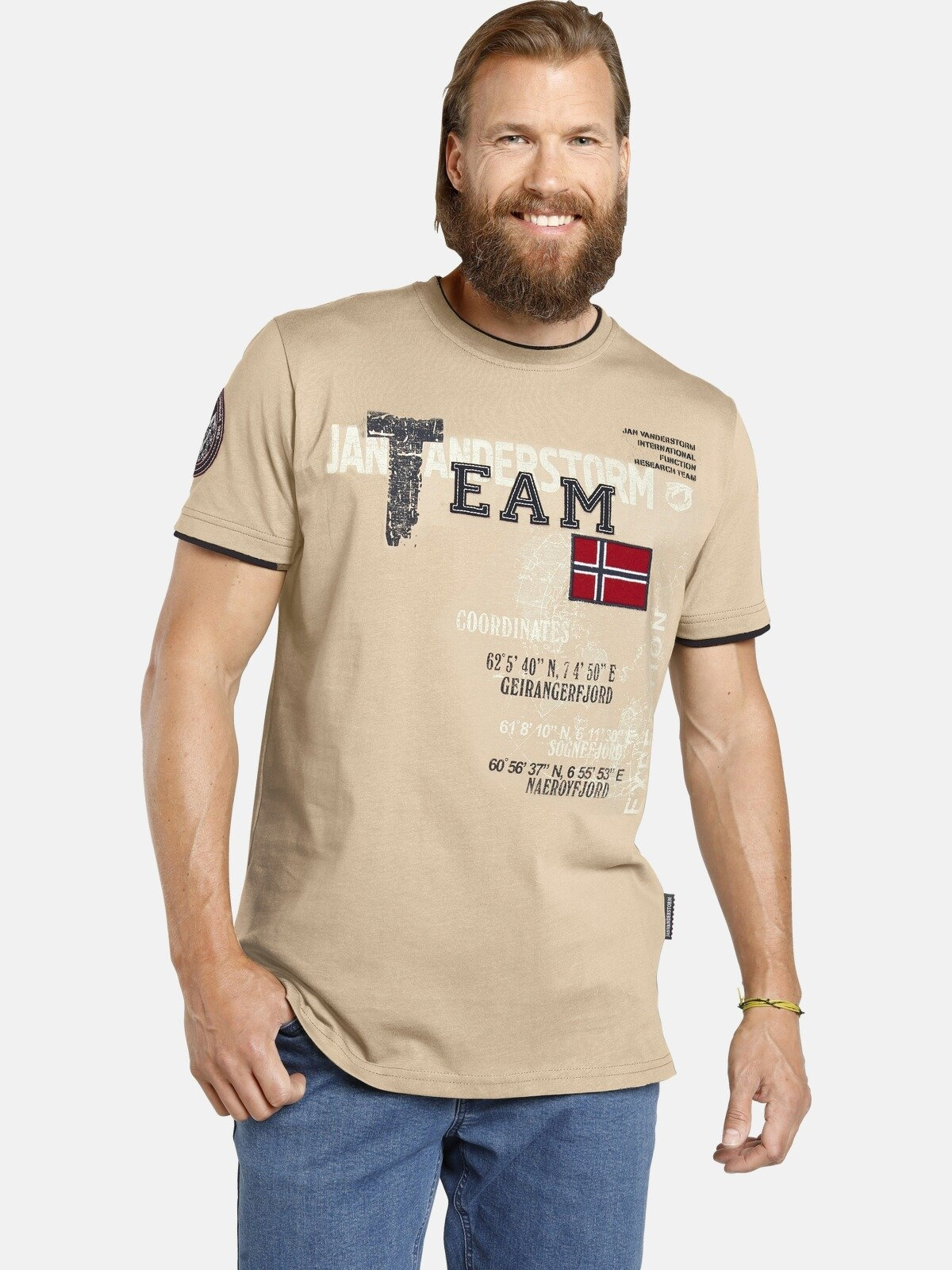 Jan Vanderstorm T-shirt SÖLVE robuuste katoen-jersey bij OTTO online kopen