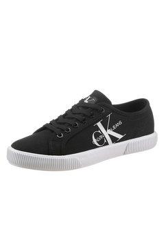 calvin klein sneakers met ck-logo opzij zwart