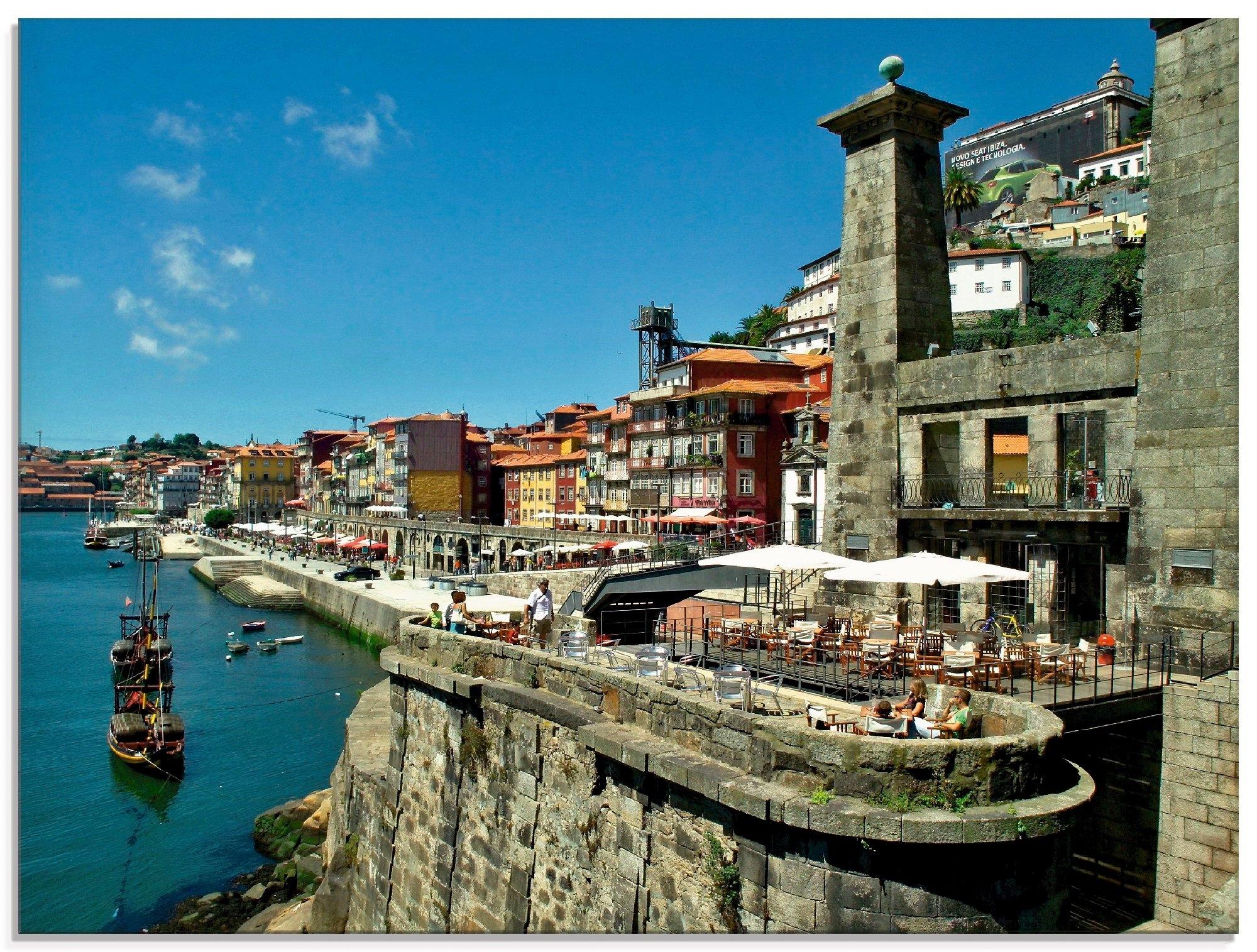 Artland print op glas Porto - Cais do Gundais (1 stuk) nu online bestellen