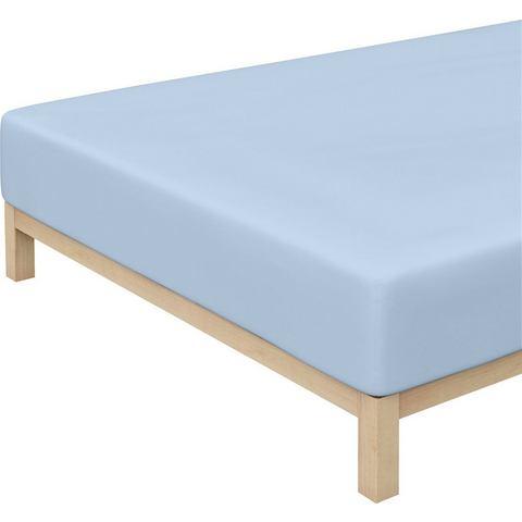 Schlafgut Unisex Jersey-hoeslaken van SCHLAFGUT blauw ca. 100-220 cm,ca. 160-220 cm,ca. 200-220 cm