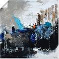 artland artprint abstract ii in vele afmetingen  productsoorten - artprint van aluminium - artprint voor buiten, artprint op linnen, poster, muursticker - wandfolie ook geschikt voor de badkamer (1 stuk) blauw
