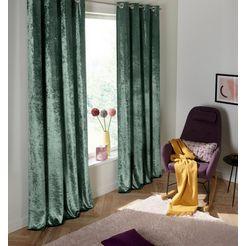 gordijn, »velvet«, my home, ringen per stuk groen