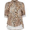 imperial klassieke blouse imp-c luipaardprint all-over zwart