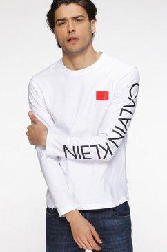 calvin klein shirt met lange mouwen text reversed logo ls t-shirt wit