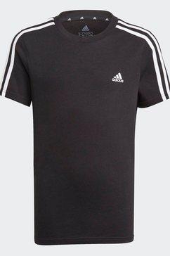 adidas performance t-shirt »adidas essentials 3-streifen« zwart
