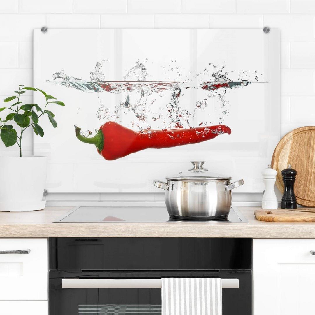 Op zoek naar een Wall-Art kookplaatdeksel Spatscherm keuken chilipepers (1-delig)? Koop online bij OTTO