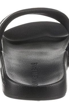calvin klein slippers met logo-opschrift in contrastbeleg zwart