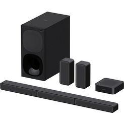 sony soundbar ht-s40r kanaal- inclusief bedrade subwoofer, draadloze rear-luidsprekers, surround sound, dolby digital zwart