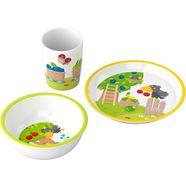haba kinderservies-set fruittuin (set, 3-delig) multicolor