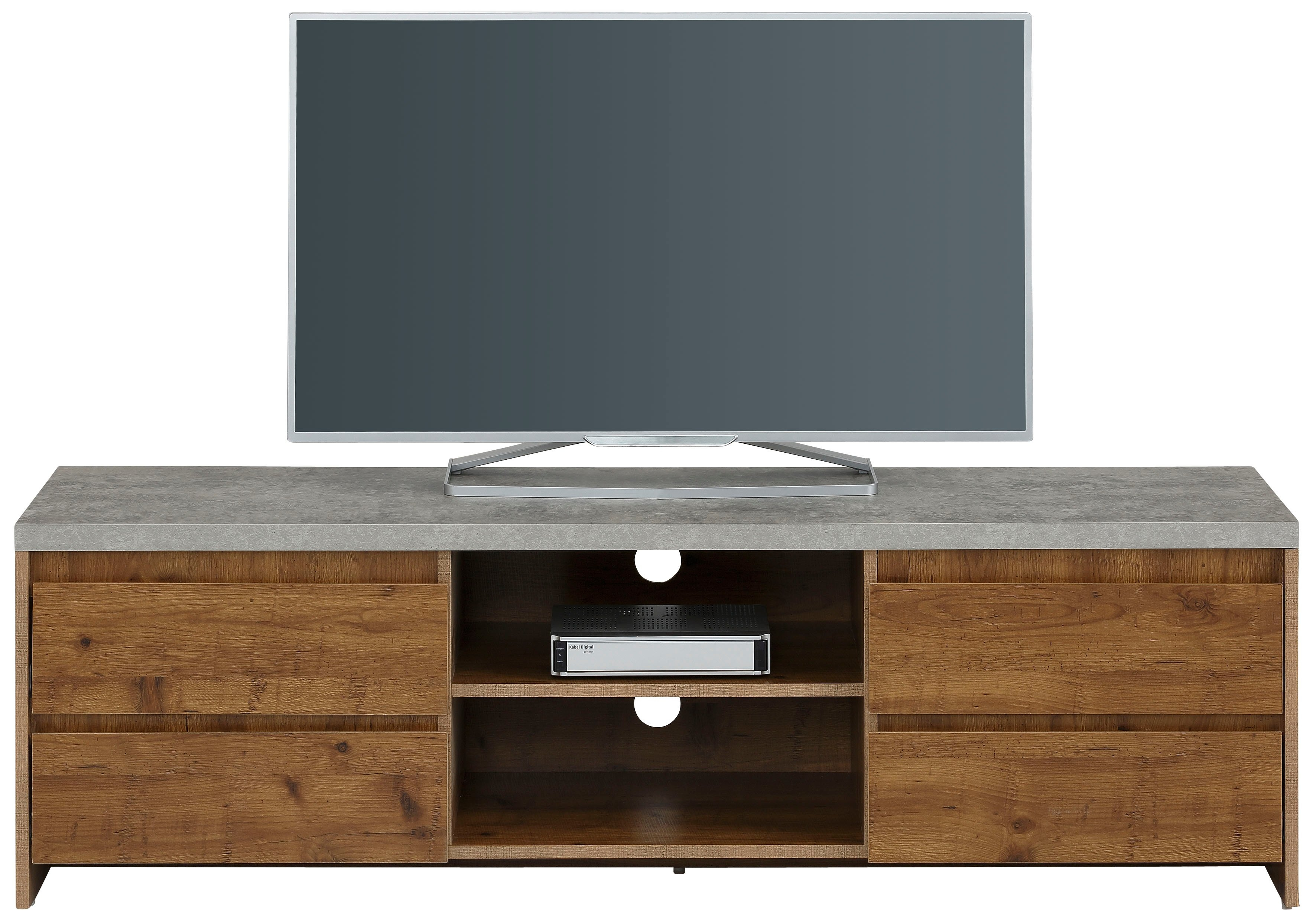Home affaire tv-meubel Maribo in moderne rustieke stijl, met een mooi betonnen bovenblad, breedte 150 cm in de webshop van OTTO kopen