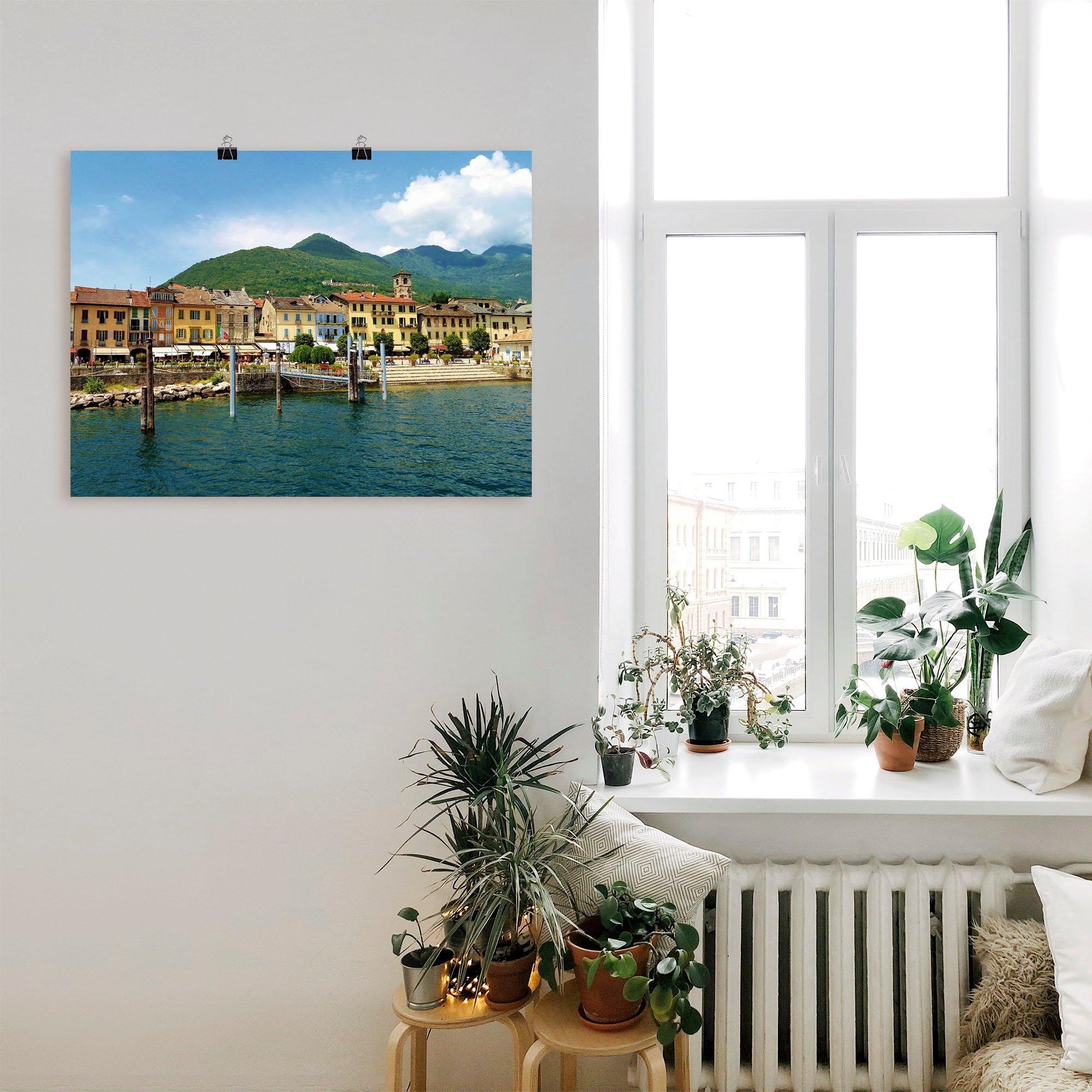 Artland artprint Cannobio aan de Lago Maggiore in vele afmetingen & productsoorten -artprint op linnen, poster, muursticker / wandfolie ook geschikt voor de badkamer (1 stuk) veilig op otto.nl kopen